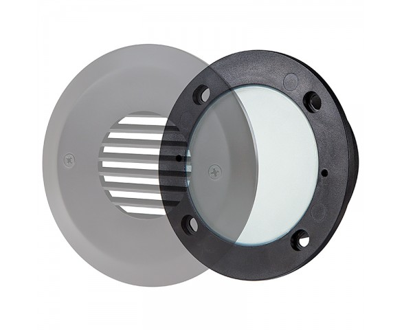 LED Step Lights - Round Deck / Step Accent Light, 12V or 120V