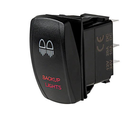 LED Rocker Switch with Legend - Backup Lights Switch: Optional Legend Illumination