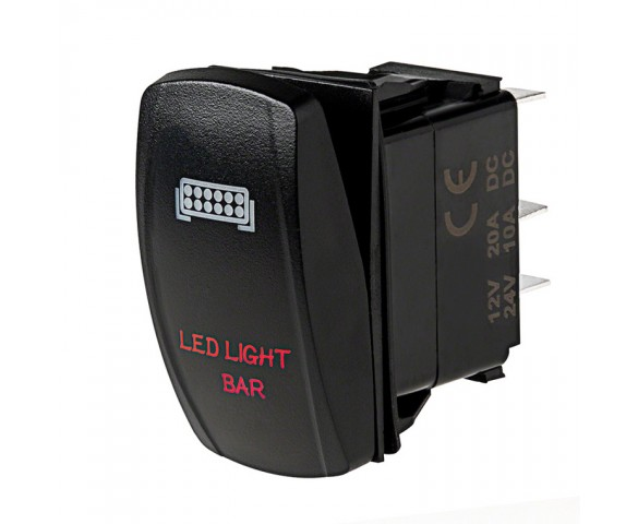 LED Rocker Switch with Legend - LED Light Bar Switch