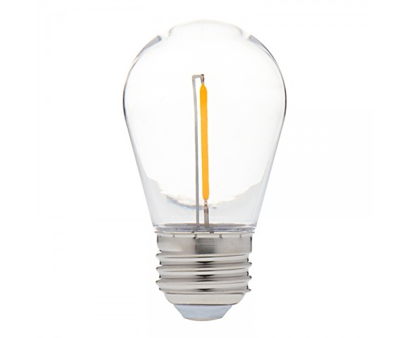 S14 Vintage LED Light Bulb - White Single Filament LED Bulb - 15W Equivalent - 60 Lumens