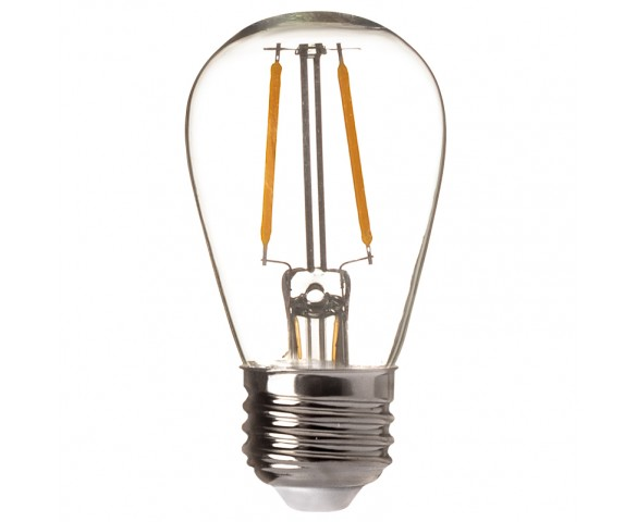 LED Vintage Light Bulb - S14 LED Sign Bulb w/ Filament LED - 15 Watt Equivalent - Dimmable - 120 Lumens