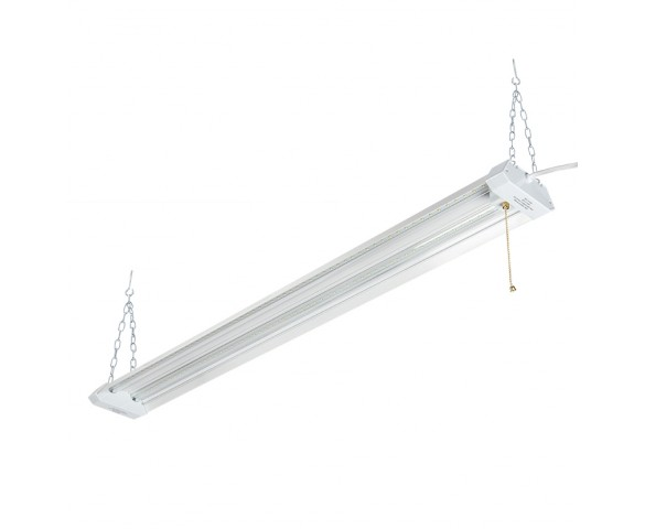 42W Linkable LED Shop Light/Garage Light w/ Pull Chain - 4' Long - 4,500 Lumens - 5000K
