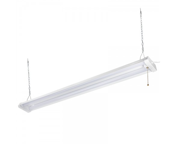 42W Linkable LED Shop Light - 4' - LED Garage Light with Pull Chain - 4500 Lumens - 5000K/4000K