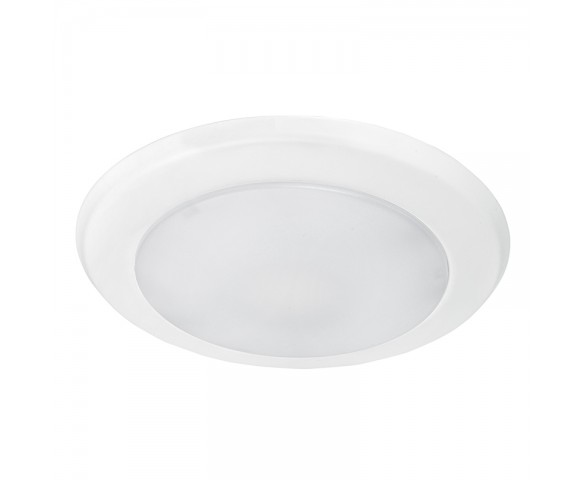 "7"" LED Downlight - Flush Mount Ceiling Light - Retrofit LED Recessed Lighting Kit - 100 Watt Equivalent - Dimmable - 850 Lumens"
