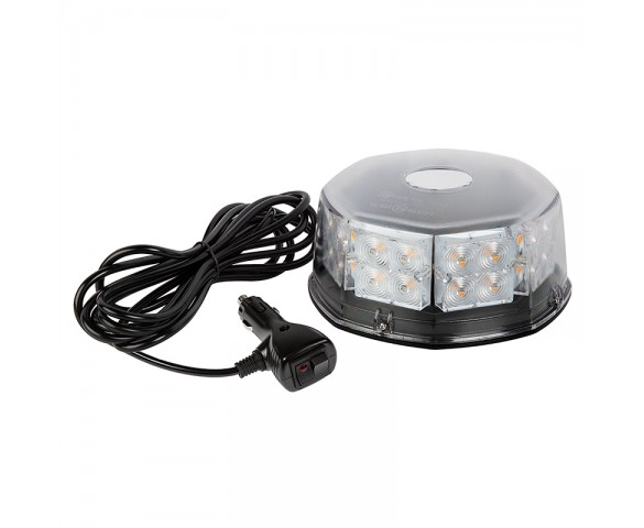 Mini Emergency LED Light Bar - Magnetic Surface Mount - 360° Safety Strobe Light - 12V Plug