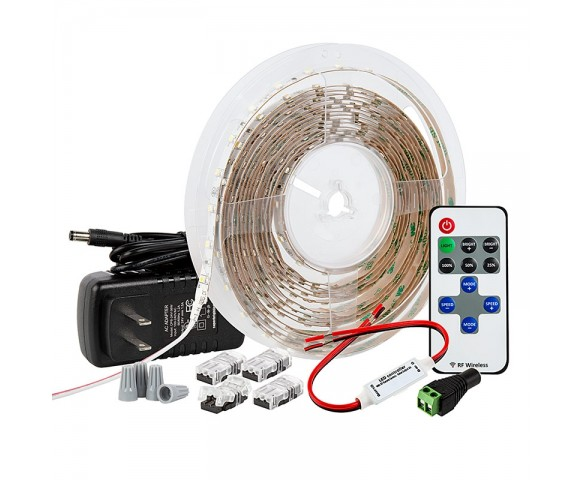 Under-Cabinet LED Strip Lighting Kit - Wireless RF Controller - 150 lm/ft