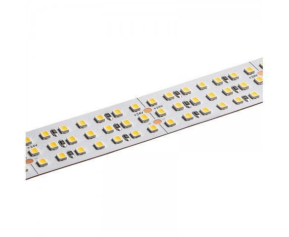 5m White Triple Row LED Strip Light - 24V - IP20 - 3000K/4000K