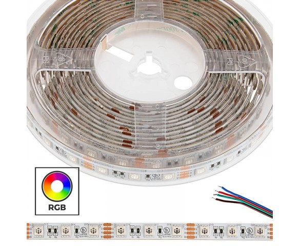 5m 5050 RGB LED Strip Light - Color Changing LED Tape Light - 12V - IP54