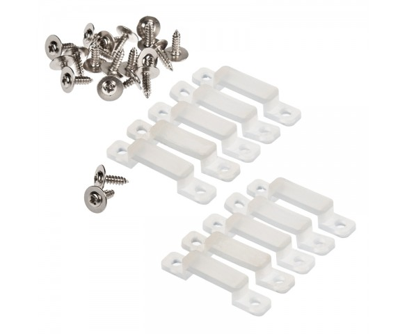 12mm Silicone Mounting Clip and Screws for STW Series Waterproof Strip Lights