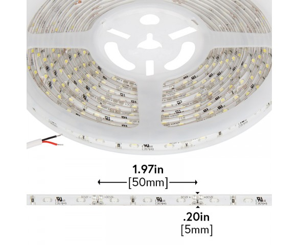 Outdoor LED Strip Lights - Weatherproof 12V LED Tape Light - Side Emitting - 59 Lumens/ft.