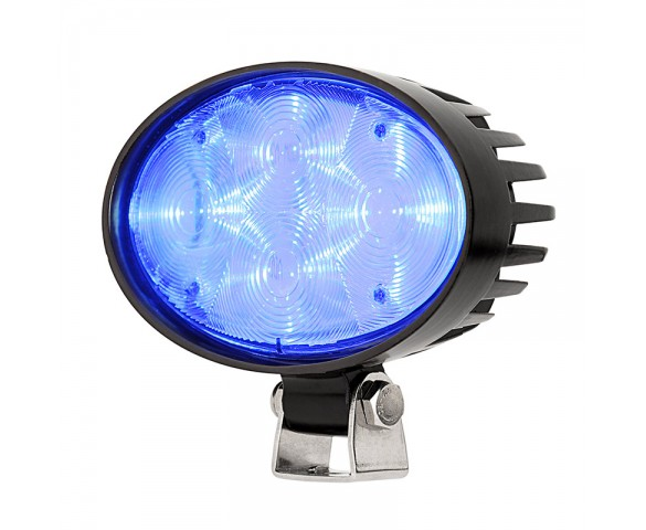 Blue LED Safety Light w/ Square Beam Pattern