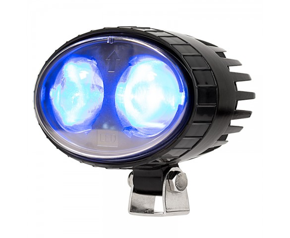 Blue LED Safety Light w/ Arrow Beam Pattern