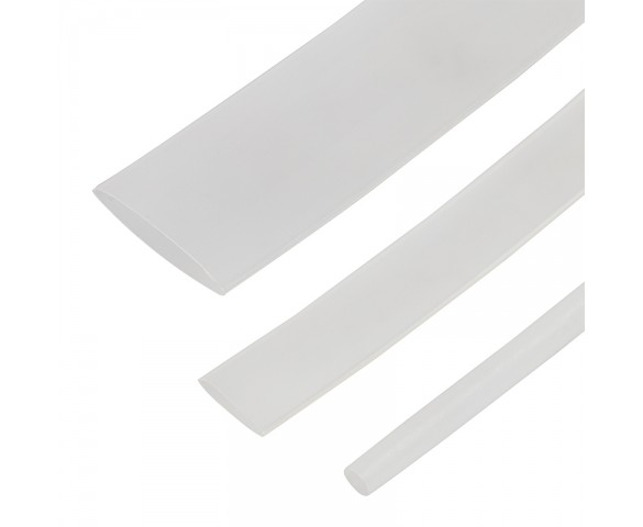 "Clear Single Wall Heat Shrink Tubing - 6"" Long"