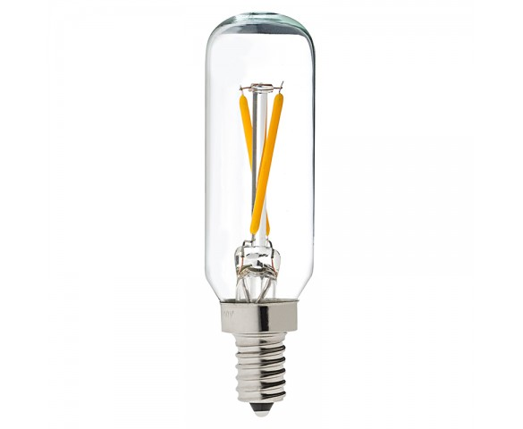 LED Vintage Light Bulb - T8 Shape - Radio Style Candelabra LED Bulb with Filament LED