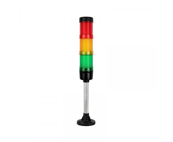 LED Stack Light - Warning Signal Light Tower - Fixed Mount with 165mm Pole