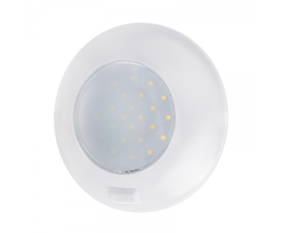 "5.5"" Round LED Dome Light w/ Door Switch - 470 Lumens - 4000K/3000K"