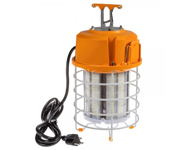 100W Temporary Work Light with Power Cord and Built In Latch - 320W Equivalent - 12500 Lumens - 5000K