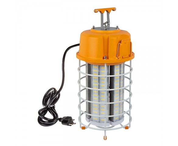 120W Temporary Work Light with Power Cord and Built-In Latch - 400W Equivalent - 15000 Lumens - 5000K