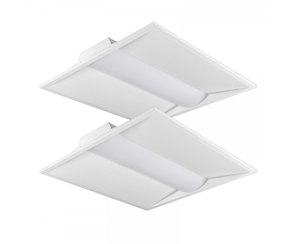 2x2 Recessed LED Steel Troffer Light - 40W - 5300 Lumen - Dimmable - 4000K