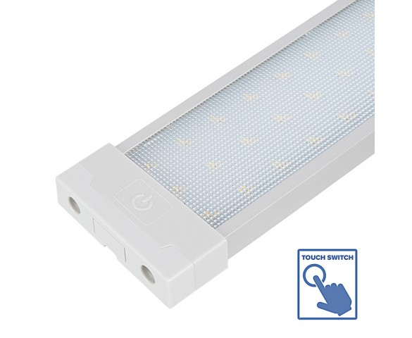 Linear LED Task Light w/ Touch Switch - Under Cabinet Lighting Fixture - 4000K