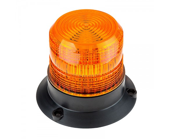 "4-3/4"" Amber LED Strobe Light Beacon with 18 LEDs"