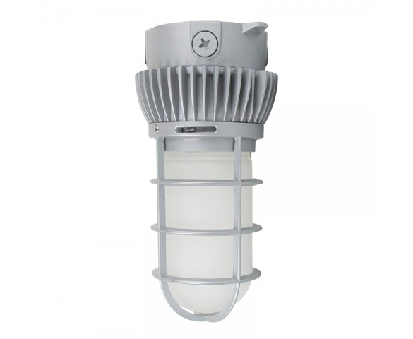 LED Vapor Proof Jelly Jar Light Fixture - Caged Ceiling Mount Light - __ Lumens