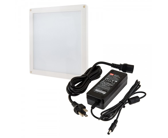 Square LED Panel Light High Voltage Kit - Vehicle and Trailer 12V LED Task Light - 6in x 6in - 412 Lumens
