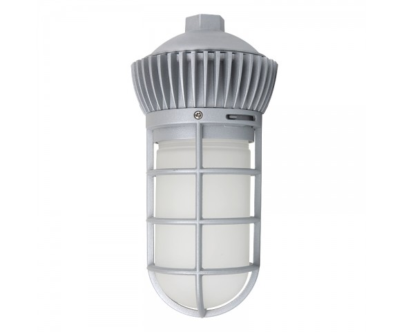 LED Vapor Proof Jelly Jar Light Fixture - Caged Pendant Mount Light - __ Lumens