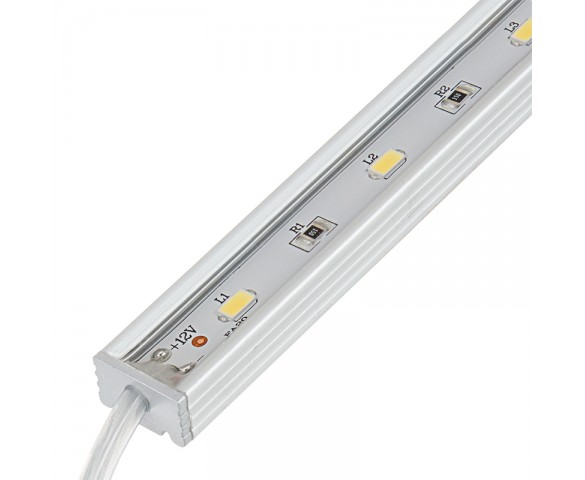 Waterproof Linear LED Light Bar Fixture w/ DC Barrel Connectors