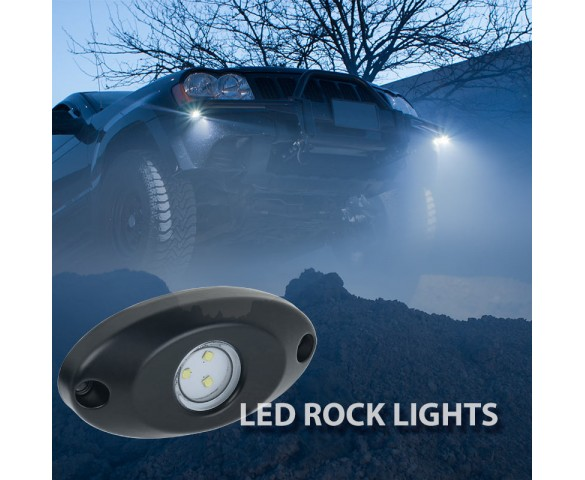 Waterproof Off Road LED Rock Light Kit - 8 LED Rock Lights