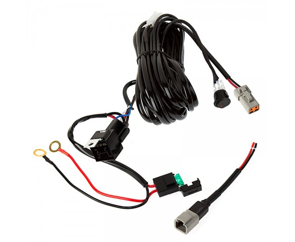 LED Light Wiring Harness with Switch and Relay - Single Channel, ATP Connector