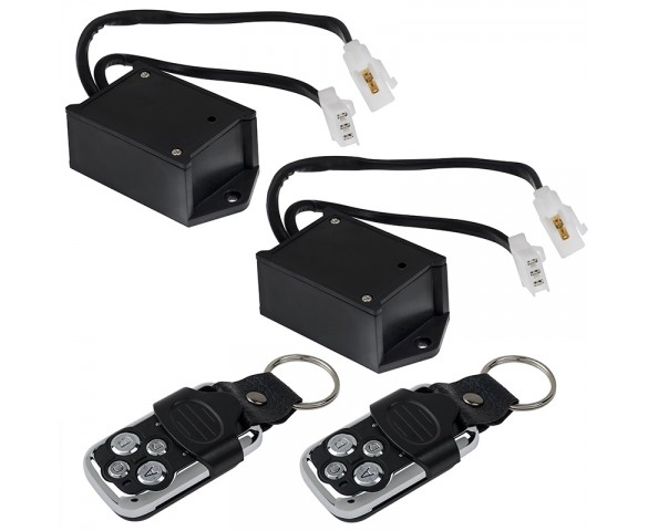 Wireless Remote Control Switches with Key Fobs for Wire Harness Pairs: