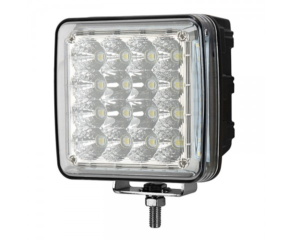 50W Quad Side Shooter LED Work Light - 5,100 Lumens - 6500K