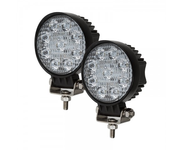 "LED Light Pods - 4"" Round Mini LED Work Lights - 22W - 1,600 Lumens - 2 Pack"