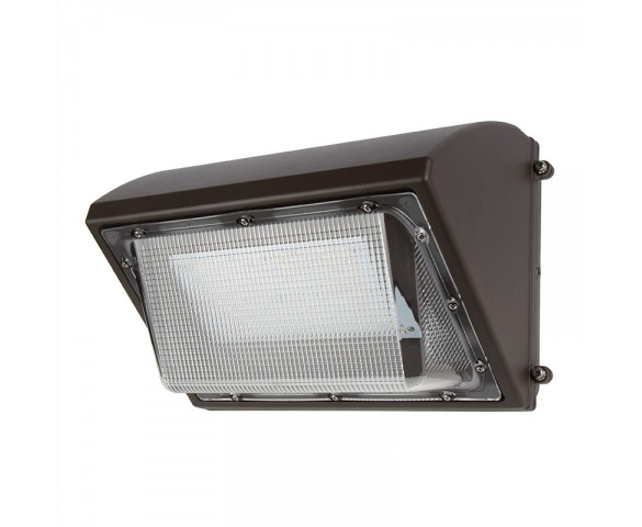 80W LED Wall Pack with Photocell - 10000 Lumens - 400W Metal Halide Equivalent - 5000K/4000K