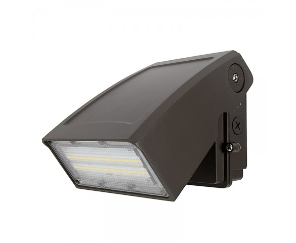 35W Adjustable Full Cutoff LED Wall Pack - 4550 Lumens - 175W MH Equivalent - 5000K/3000K