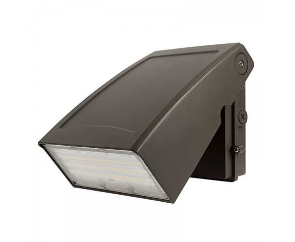 75W Adjustable Full Cutoff LED Wall Pack - 9750 Lumens - 400W MH Equivalent - 5000K/3000K