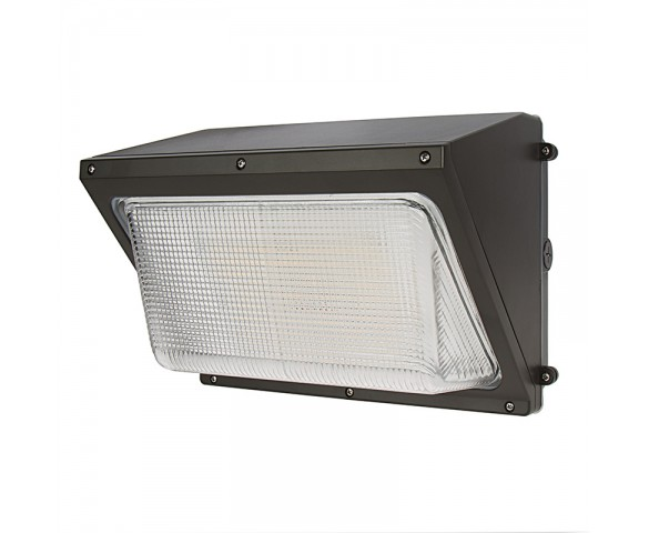 40W LED Wall Pack - 6000 Lumens - Glass Lens - 250W Metal Halide Equivalent - 5000K/4000K