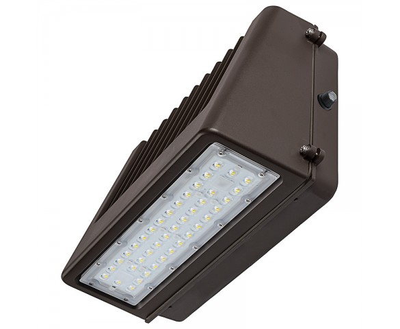 80W Full Cutoff LED Wall Pack with Photocell - 9600 Lumens - 400W Metal Halide Equivalent - 5000K/4000K