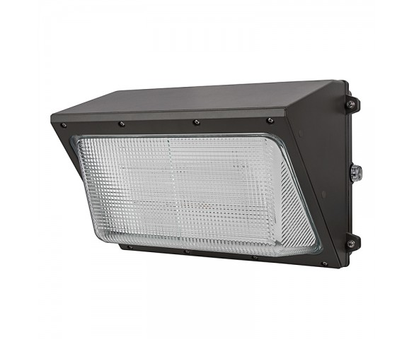 120W LED Wall Pack w/ Integrated Photocell - 12,000 Lumens - Glass Lens - 400W Metal Halide Equivalent - 5000K