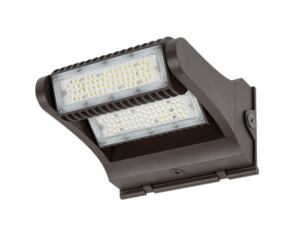 120W Rotatable LED Wall Pack - Integrated Photocell - 16800 Lumens - 400W MH Equivalent - 5000K