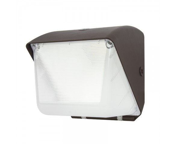 60W LED Small Wall Pack with Bypassable Photocell - 7,500 Lumens - 250W MH Equivalent - 5000K/4000K