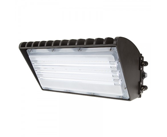 Photocontrol Semi Cutoff LED Wall Pack - 70W (175W MH Equivalent) - 5000K/4000K - 8,200 Lumens