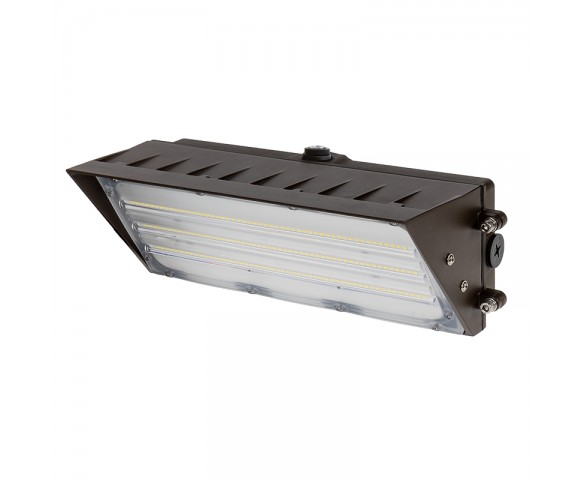 60W LED Wall Pack with Photocell - Semi Cutoff Wall Pack - 8200 Lumens - 320W Equivalent