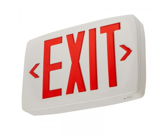 LED Exit Sign w/ Battery Backup - Single or Double Face