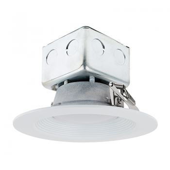 6 Recessed Led Downlight W Built In Junction Box And Baffle Trim 60 Watt Equivalent Dimmable 650 Lumens Super Bright Leds