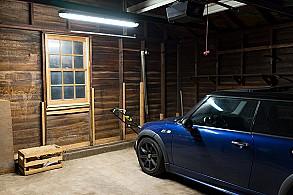 Garage shed led lighting photo gallery super bright leds for Tube led garage