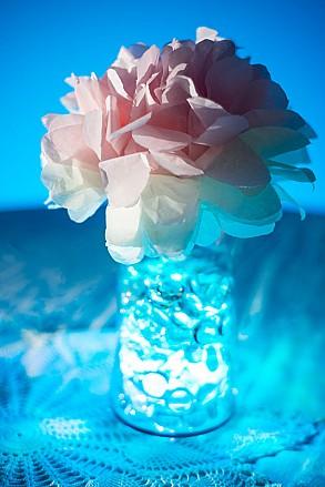 blue led vase light