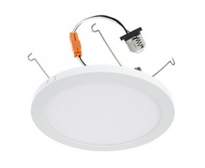 "9"" Slim LED Downlight for 4"", 5"", or 6"" Cans - Retrofit LED Recessed Lighting Kit - 100 Watt Equivalent - Dimmable - 1,600 Lumens"