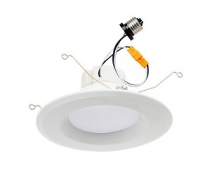 "LED Recessed Lighting Kit for 5"" to 6"" Cans - Retrofit LED Downlight w/ Open Trim - 100 Watt Equivalent - Dimmable - 1,550 Lumens"